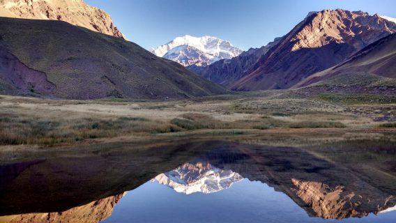 laguna espejo Aconcagua